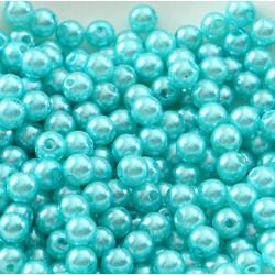 100 Perle imitation Brillant 3mm Couleur Turquoise MC0103042