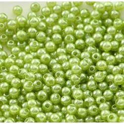 100 Perle imitation Brillant 3mm Couleur Vert Pomme MC0103043
