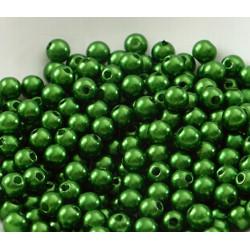 100 Perle imitation Brillant 3mm Couleur Vert Foncé MC0103044