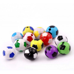 Lot de 10 Perles Ballon de football Mixte en Acrylique 12mm