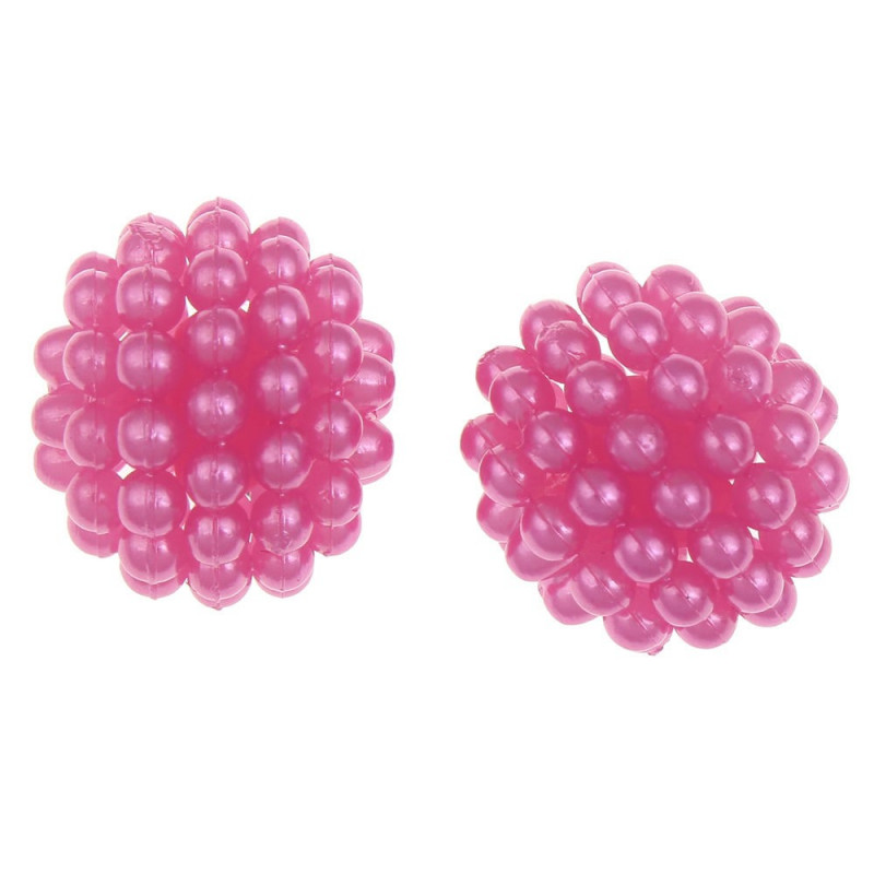 Lot de 10 Perle en Acrylique Framboise 10mm