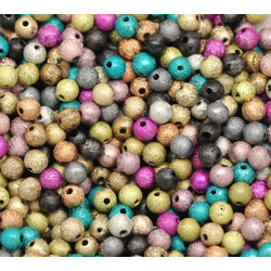 Lot 30 Perles Stardust 6mm Multi-Couleur MC0106001