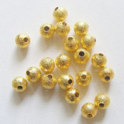 Lot 30 Perles Stardust Métal 6mm Doré MC0106002