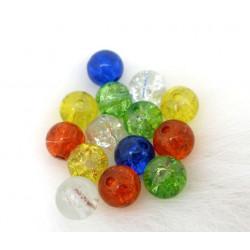 30 Perles en Verre Craquelé 6mm perle fissuré MC0106087