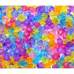 100 Perles 6x6mm Mixte Intercalaires Bicone toupie MC0106090
