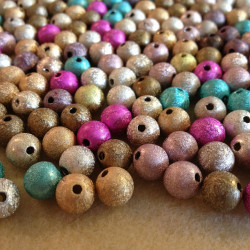 Lot 20 Perles Stardust 8mm Mixte MC0108061
