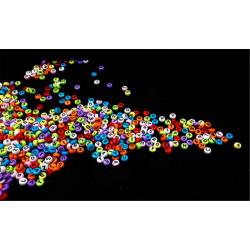 50 Perles Alphabet Multi-couleur Ecriture Noir Ronde 7mm x 4mm  Acrylique Lettre Aléatoire MC0107135