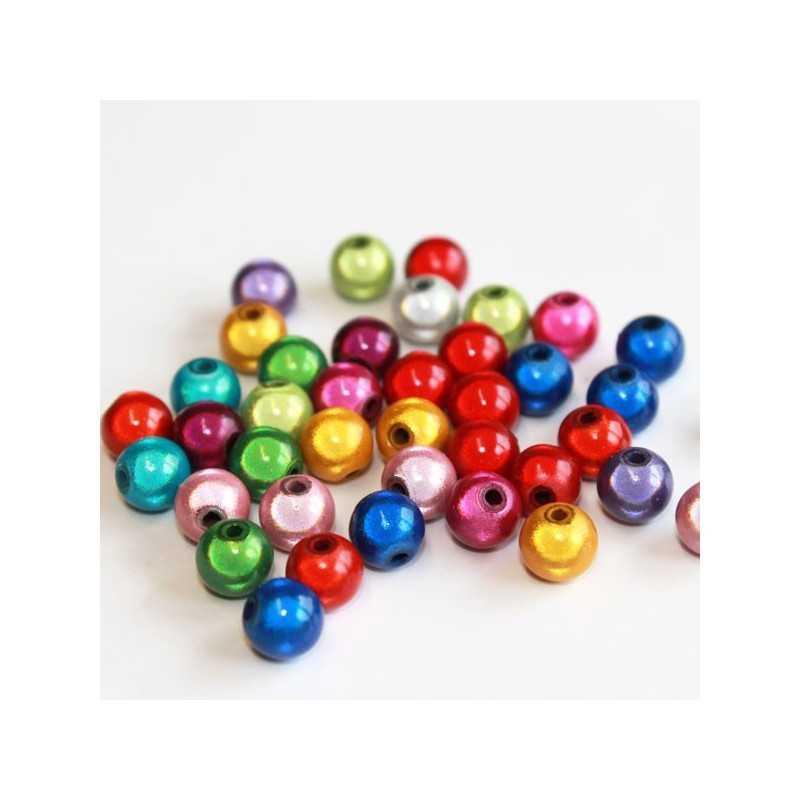20 Perles 6mm Mixte Miracle Magique Effet Oeil De Poisson
