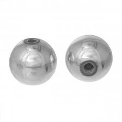 50 Perles en Acrylique 6mm Couleur Argenté Brillant MC0106091