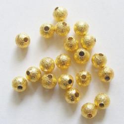30 Perles Stardust Acrylique 6mm Doré MC0106002