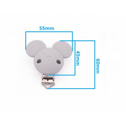 Silicone Clip Pince Attache Tetine 3,5 cm Souris MC2035600