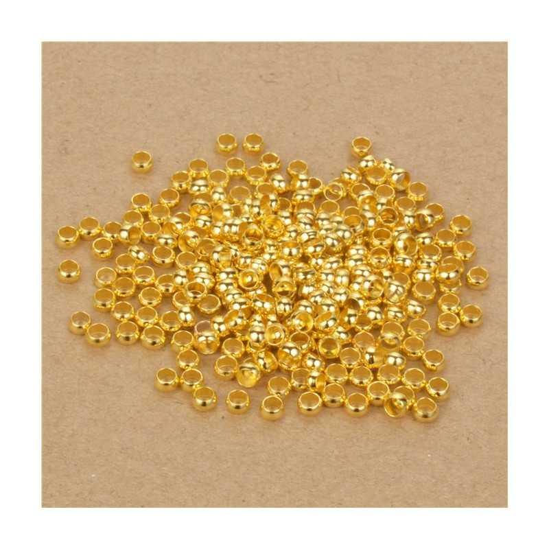 Perles à Écraser 3mm Doré