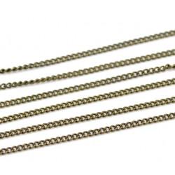 Chaine Bronze 1,8mm x 1,3mm Petite Maillon, Maille Cheval Soudée MC4000001
