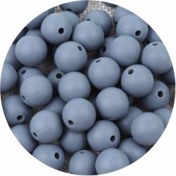 10 Perle 10mm Silicone Couleur Gris MC0110090