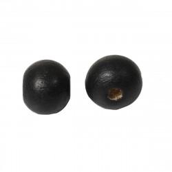 20 Perles en Bois 10mm Noir MC0110322