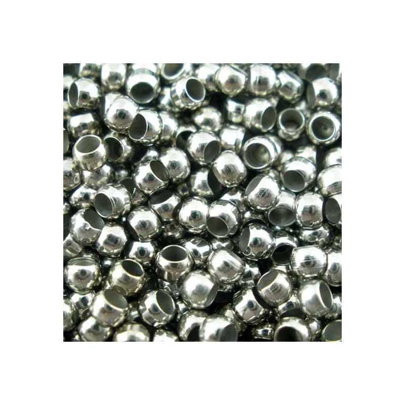 Perle à Écraser 2mm Argente Mat