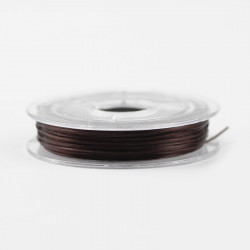 Bobine de Fil Nylon Elastique 0,8mm Marron environ 10m MC0208333