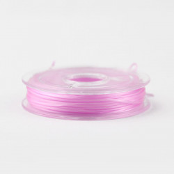 Bobine de Fil Nylon Elastique 0,8mm Rose environ 10m MC0208335
