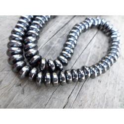 20 Perle Hematite Gris Fonce Rondelle 6mm x 4mm MC0106097
