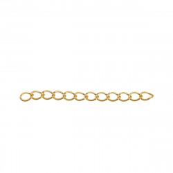 10 Extension Chaine 5cm x 4mm Couleur Doré MC4000101A