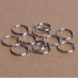 50 Anneaux Double De Jonction Argenté Mat 12mm MC0112020