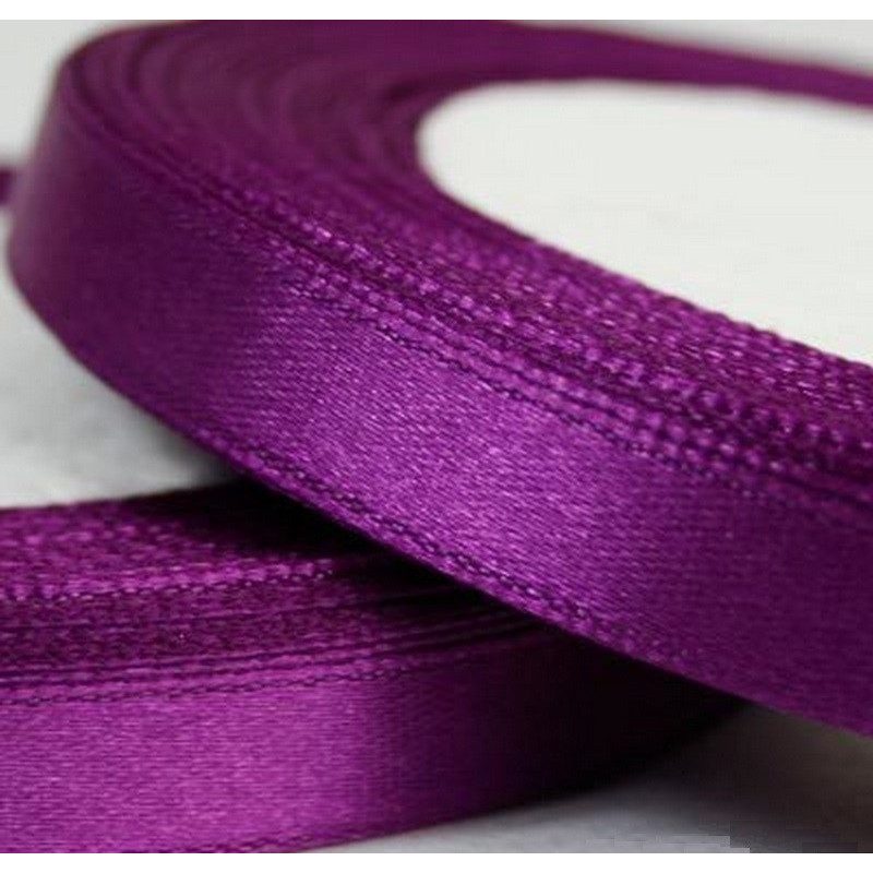 Ruban Satin Violet 6mm - 1 Rouleau
