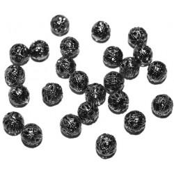 20 Perles 6mm Filigrane Rond Metal Charms Gunblack MC0106212