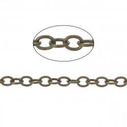 1m Chaine Maille Forçat Chainette Bronze 2mm x 1,5mm Petit Maillon MC4000007