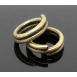 50 Anneaux De Double Jonction 4mm Bronze MC0104080