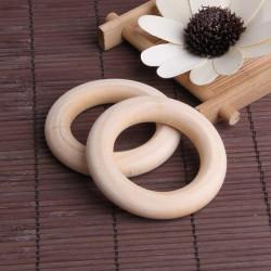 Anneaux Rondelle en Bois 55mm Couleur Naturel Anneau 5,5cm MC0700300