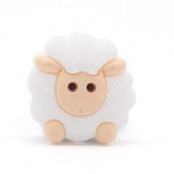 Perle Silicone Mouton 23mm Couleur au Choix MC1200050
