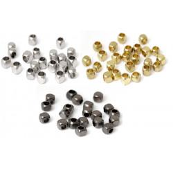 50 Perle Cube Métal 2.5mm intercalaire