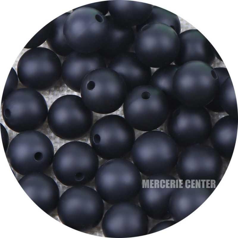 10 Perles Silicone 12mm Couleur au choix
