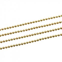Chaine a Bille Couleur Doré Diametre 2,4mm Chaine Boulle MC4000040