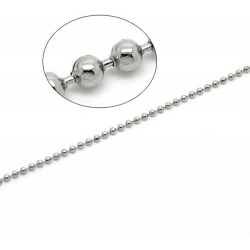 1m Chaine a Bille Couleur Argenté Diametre 2,4mm Chaine Boule MC4000021