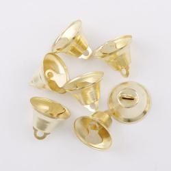 20 Cloche 9mm x 6mm Metal Doré Clochette Jingle Bell Grelots