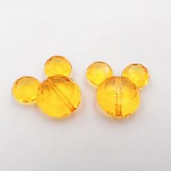 Perle en Acrylique Souris 37mm x 34mm Mickey Couleur au Choix