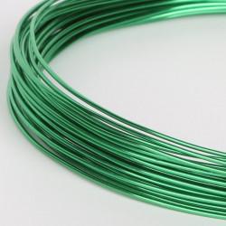 10m Fil Aluminium 1mm Couleur Vert MC0210502
