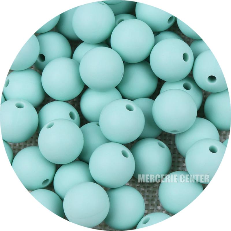 5 Perles Silicone 15mm Couleur au choix