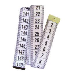 Metre Ruban 150cm Couleur Blanc Ecriture Noir 1,5m Couture mm/cm MC1000011