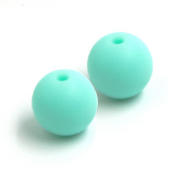 10 Perle Silicone 9mm Couleur Vert Menthe MC1200130