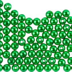50 Perles 6mm Imitation Brillant Couleur Vert MC0106046