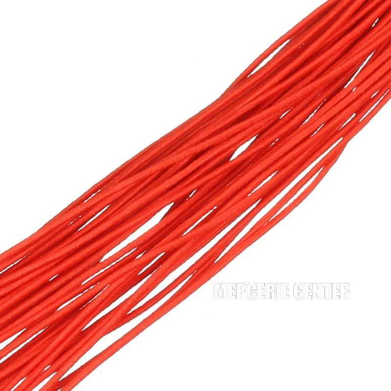 1m Fil elastique 1mm Couleur Rouge