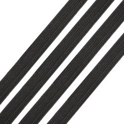 Fil Elastique Plat Noir 10mm (vendu au metre) MC0210350D