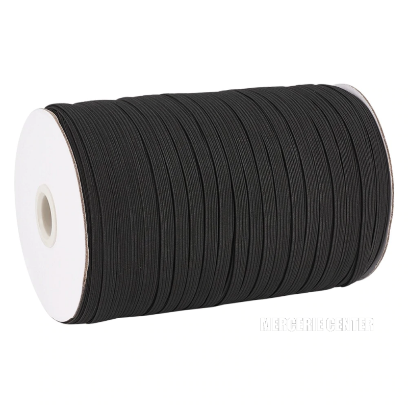 Fil Elastique Plat Noir 7mm (vendu au metre)
