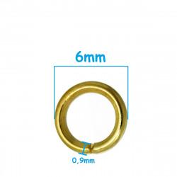 50 Anneaux de Jonction Ouvert Doré 6mm MC0106260
