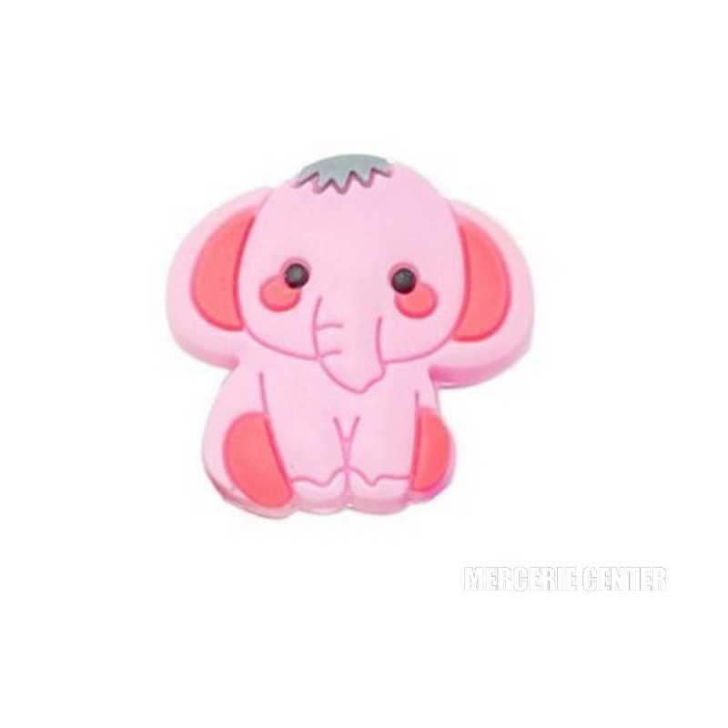 Perle en silicone Elephant 31mm x 24mm