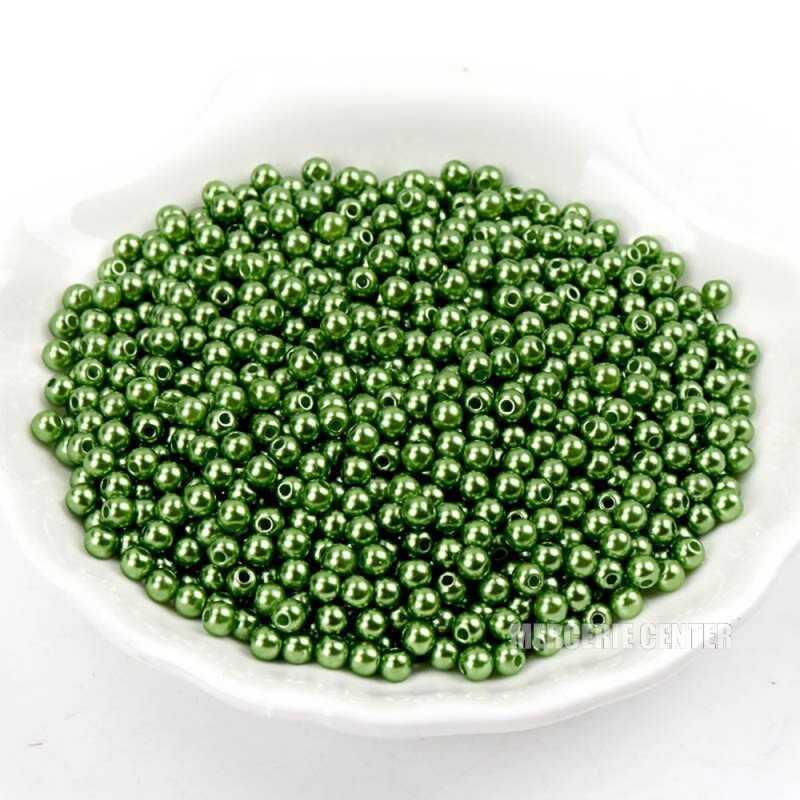 50 Perles 5mm Imitation Brillant Couleur Au Choix