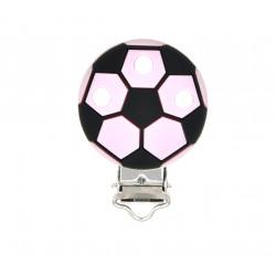 Clip Silicone Pince Attache Tetine Ballon de Foot 35mm x 50mm MC2035702