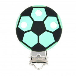 Clip Silicone Pince Attache Tetine Ballon de Foot 35mm x 50mm MC2035702